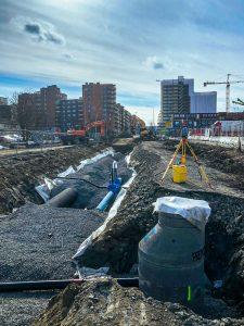 Vi etablerer nytt vann- og avløpsnett i Skårersletta. Foto: Lørenskog kommune